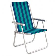 Cadeira Alta Conforto Alumínio Azul escuro MOR