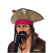 Conjunto de Bigode e Barbicha Jack Sparrow