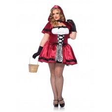 Fantasia Gótica Chapeuzinho Vermelho Adulto Plus Size Halloween Carnaval