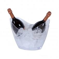 Balde de champanhe Acrilico transparente