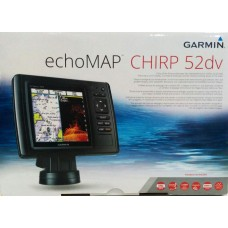 Gps e Sonar Transducer Garmin Echomap Chirp 52dv C/ Carta Nautica