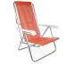 Cadeira Reclinável Alumínio 8 Posições Coral - 2233