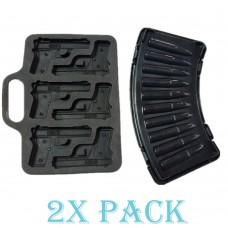 Combo: 1 Forma de Gelo de Pistola + 1 Forma balas de gelo AK47