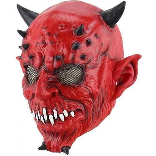 Máscara Diabo Vermelho Halloween Fantasia