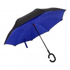 Guarda Chuva Invertido Original EUA Alta Qualidade - Azul Escuro - Tamanho G - 105cm