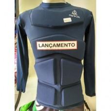 bd4931b440bd6 Camiseta Aux Flutuação Azul Marinho Manga Longa 120kg