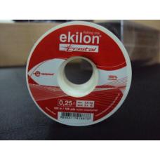 Kit: 5 Linhas Ekilon Crystal 0.25mm 8,4lb 100m