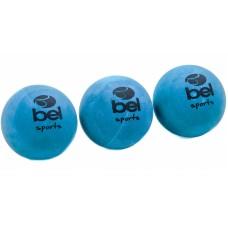 Kit de 3 bolas de borracha para Frescobol (azul ou vermelha)
