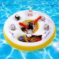 Boia Bar Cooler Inflavel Flutuante C/ Porta Latas
